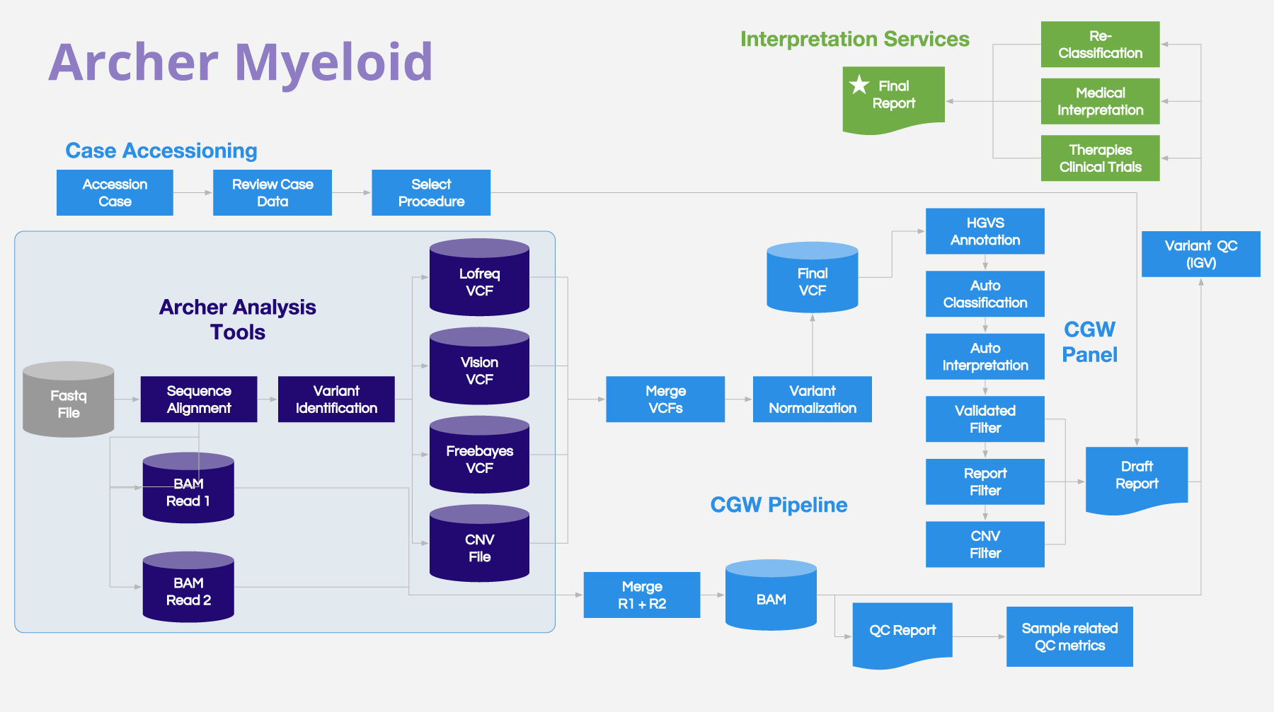 Archer Myeloid Example Workflow