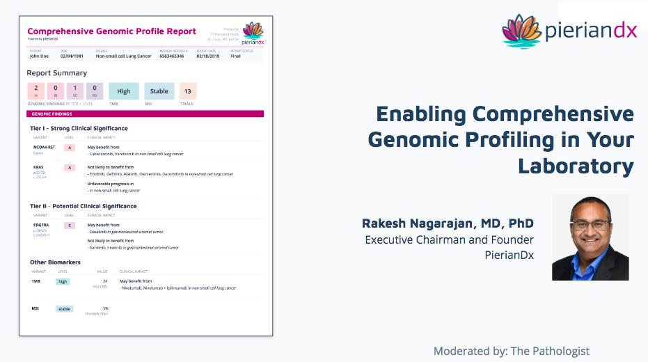 Enabling Comrpehensive Genomic Profiling The Pathologist