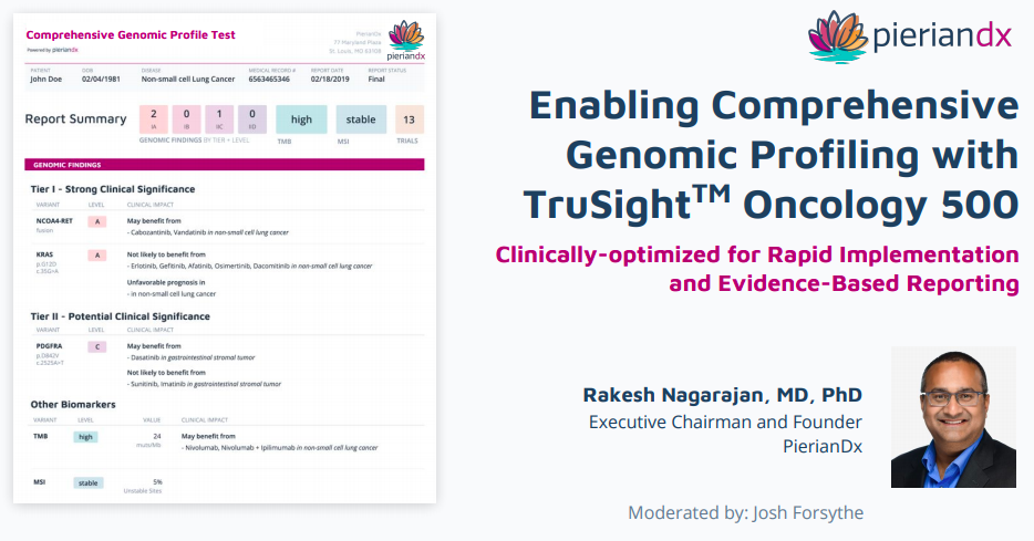 Enabling Comprehensive Genomic Profiling with TruSight Oncology 500