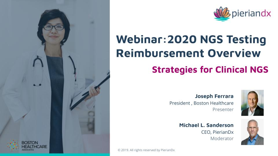2020 NGS Testing Reimbursement Overview