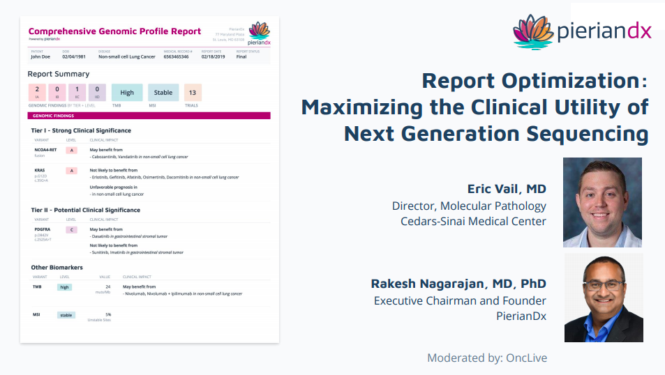 Maximizing the Clinical Utility of Next Generation Sequencing