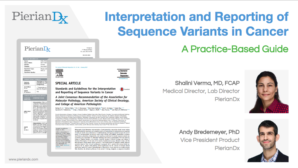 Less Variation, More Standardization in Somatic Variant Interpretation and Reporting