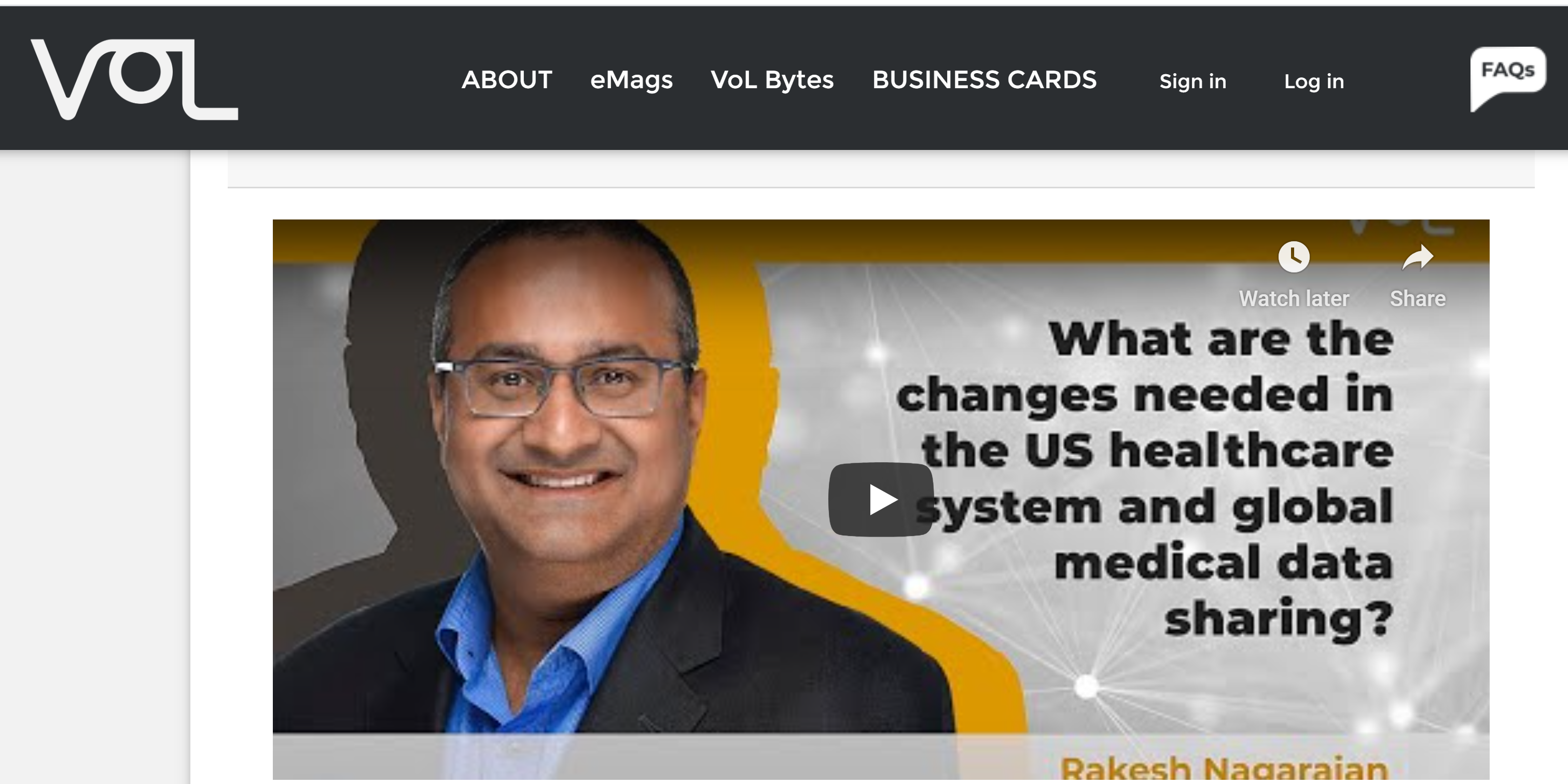 Voices of Leaders Interview with Rakesh Nagarajan