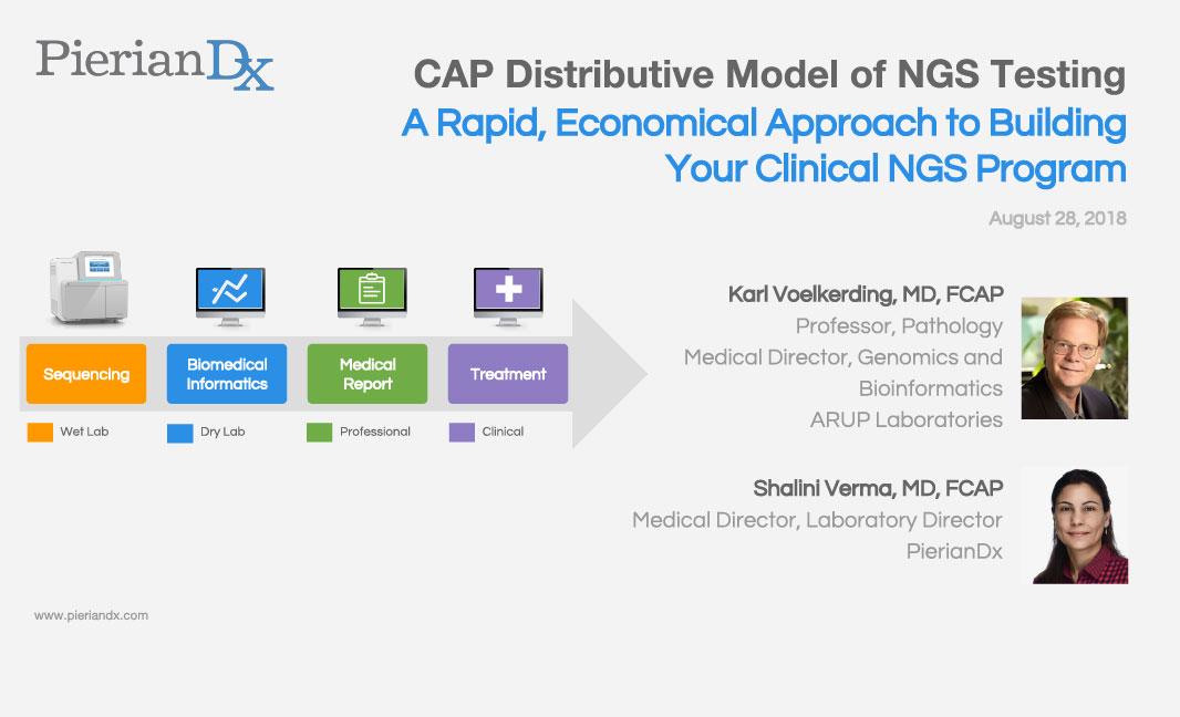 CAP Distributive Model of Next Generation Sequencing Testing